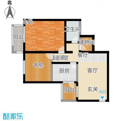 京东丽景苑93.77㎡2室2厅1卫户型