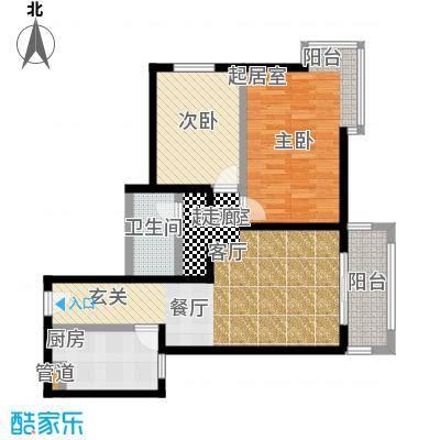 京东丽景苑86.25㎡反户2室2厅1卫户型