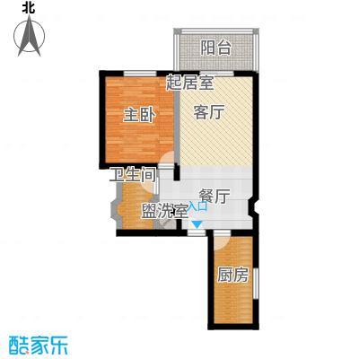 京东丽景苑62.10㎡1室1厅1卫户型