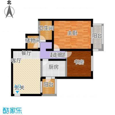 京东丽景苑93.77㎡反户2室2厅1卫户型