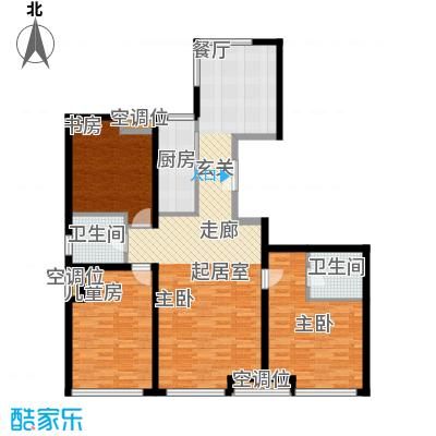 万象新天巴德公寓211-213楼A三室两厅户型