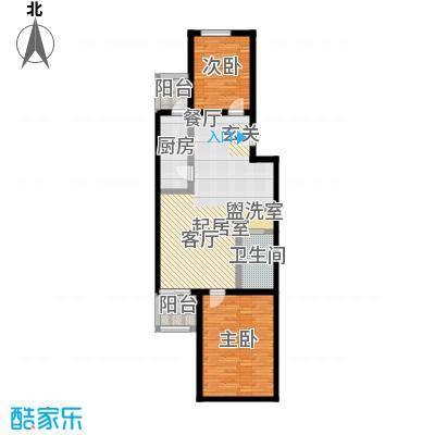 农光里小区88.21㎡二居室户型