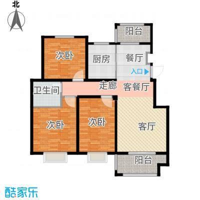 晟地润园C1户型3室1厅1卫1厨
