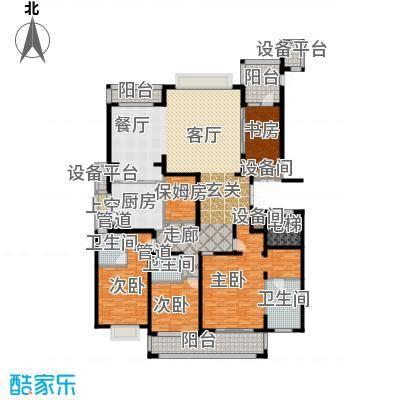 雅戈尔东海府E户型4室1厅3卫1厨