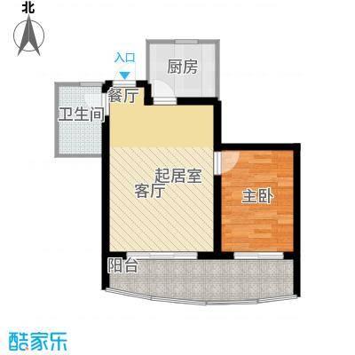 山水兰庭户型1室1卫1厨