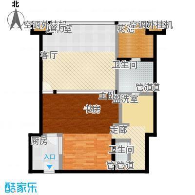 合景・汀澜海岸89.26㎡D户型2室2厅1卫