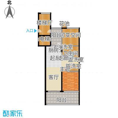 合景・汀澜海岸124.00㎡C户型2室2厅2卫