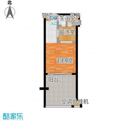 合景・汀澜海岸53.29㎡E户型1室1厅1卫