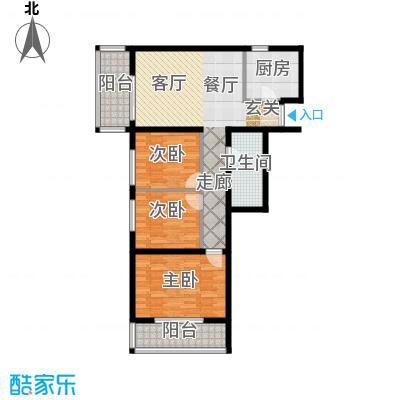 管庄小区101.16㎡3室1厅1卫1厨户型