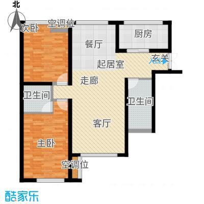 万象新天巴德公寓211-213楼C两室两厅户型