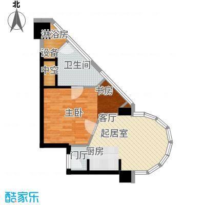 世华国际中心62.54㎡A户型一室一厅一卫户型