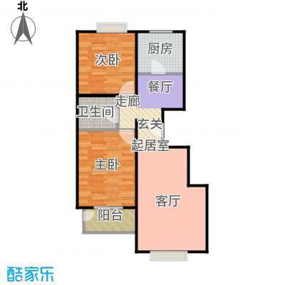 天伦锦城89.99㎡二期9号楼3单元1-11层02户型