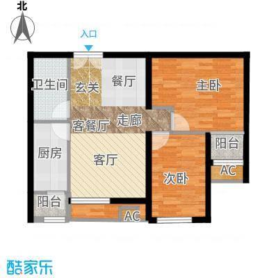 东亚望京中心A2b户型二居户型