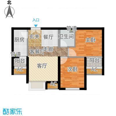 东亚望京中心A2d1一室一厅一卫户型