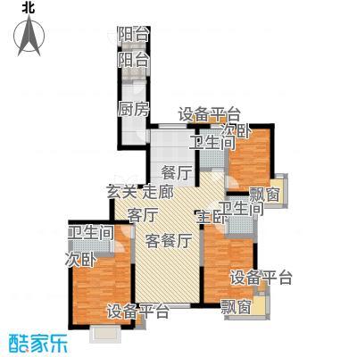 富力又一城商业C16-01户型三室两厅三卫户型