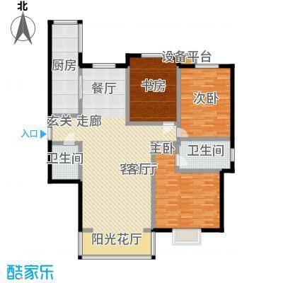 阳光汾河湾137.87㎡阳光汾河湾I\'户型三室两厅两卫户型3室2厅2卫