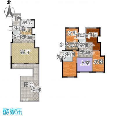 亿城叠山院206.00㎡4室2厅3卫2厨户型4室2厅3卫