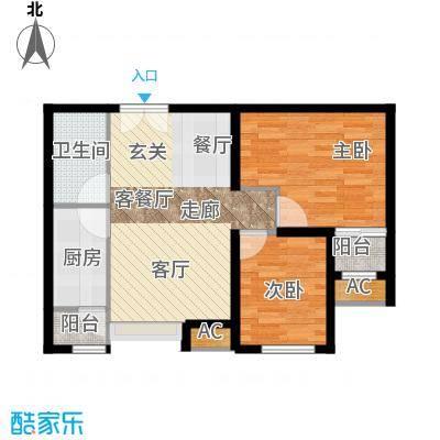 东亚望京中心A2b1户型二居户型