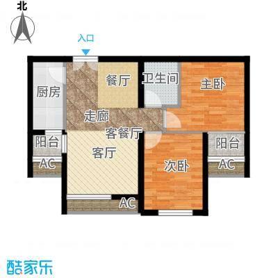 东亚望京中心A2d一室一厅一卫户型