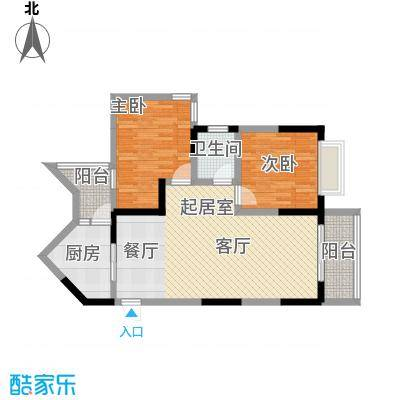 汇丰国际度假公寓两房两厅一厨一卫户型
