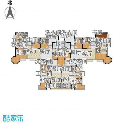 恒大绿洲105.00㎡47、50号楼户型2-33层平面图户型2室2厅1卫