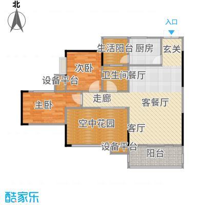 帝豪巴南印象二期72.00㎡二房二厅一卫-套内面积约72平方米户型