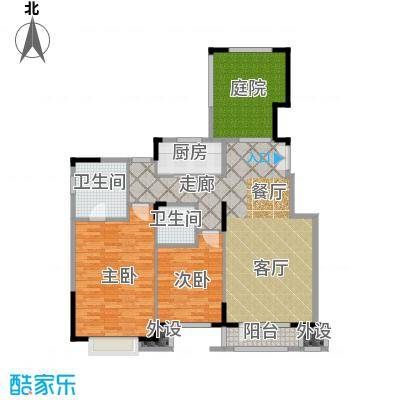 亿城叠山院116.00㎡2室2厅2卫1厨户型2室2厅2卫
