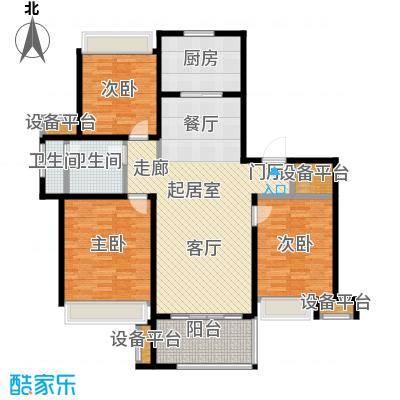 万科玲珑东区115.00㎡3室2厅1卫户型3室2厅1卫