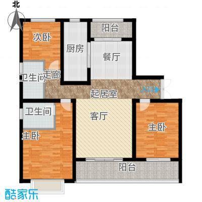 中房颐园134.00㎡D1户型3室2厅2卫