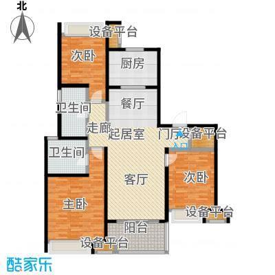 万科玲珑东区125.00㎡翠园春3室2厅2卫户型3室2厅2卫