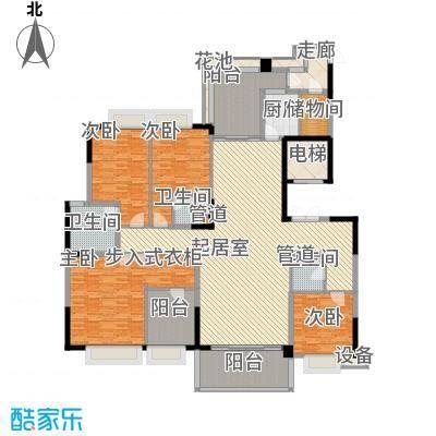 J户型225平四房两厅三卫三阳台