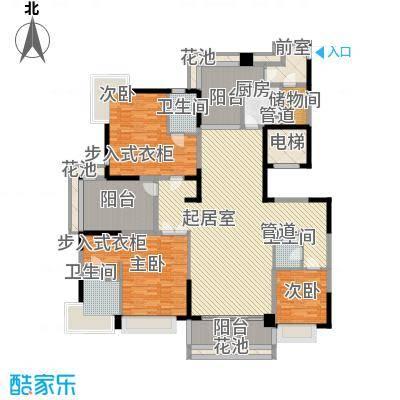 K1户型214平三房两厅两卫三阳台