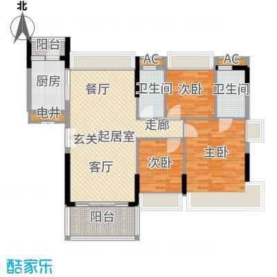 万好美域119.67㎡5栋02户型3室2厅2卫QQ
