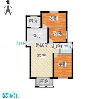 理工帝湖湾111.92㎡266#C户型3室2厅1卫