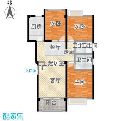 鑫苑世家98.44㎡90.22-98.44平米C户型3室2厅2卫