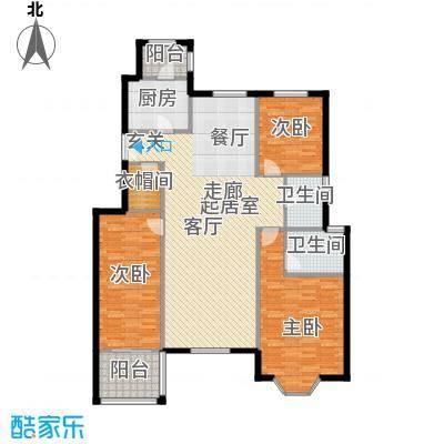 中国铁建・花语城147.00㎡3-H4三室两厅两卫户型3室2厅2卫