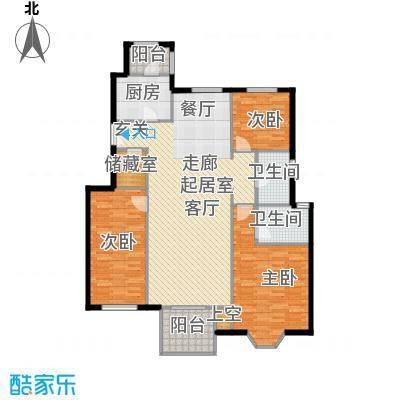 中国铁建・花语城147.00㎡3-H5三室两厅两卫户型3室2厅2卫