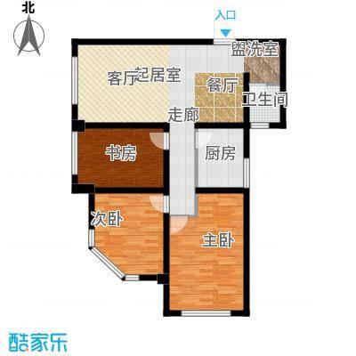 南阳长安玉龙苑113.96㎡三室两厅一卫户型3室2厅1卫