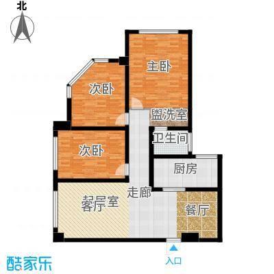 南阳长安玉龙苑133.05㎡三室两厅一卫户型3室2厅1卫