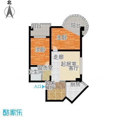 南阳长安玉龙苑110.99㎡两室两厅一卫户型2室2厅1卫