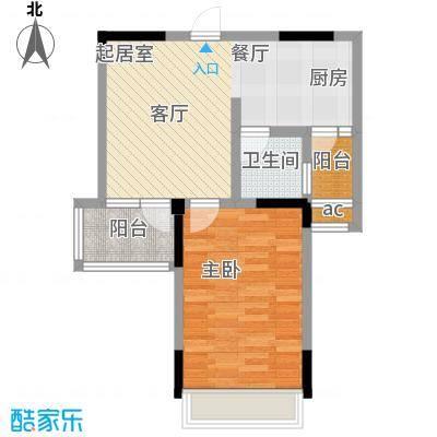 华夏新城户型1室1卫