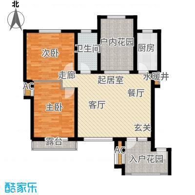 亚泰城103.00㎡三室二厅一卫户型3室2厅1卫