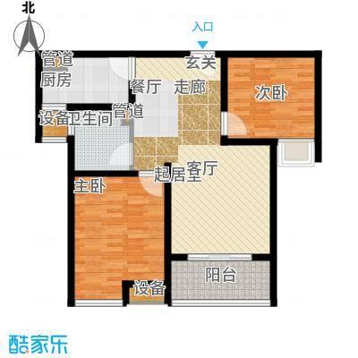 雨润新城85.00㎡G1户型2室1厅1卫