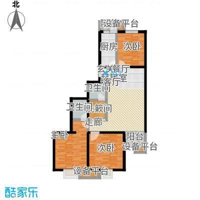 花都盛景(宜兰园)111.54㎡三室一厅户型