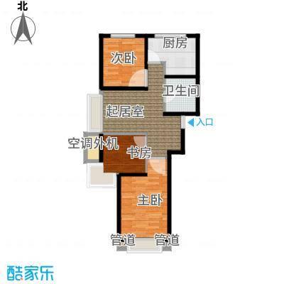 东亚・印象台湖78.03㎡D户型 三室一厅一卫户型3室1厅1卫