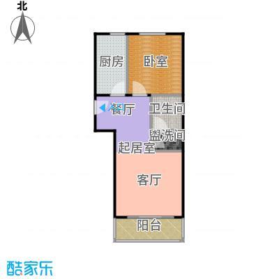 绣江南62.00㎡G户型一室一厅一卫户型