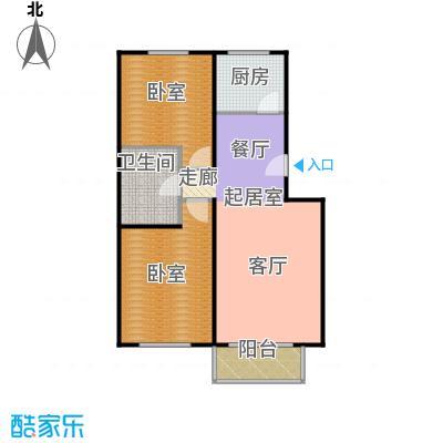 绣江南88.94㎡E1户型两室两厅一卫户型