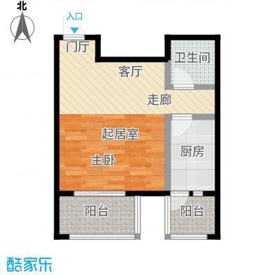 上林溪南区44.00㎡O户型 一室一厅一卫户型1室1厅1卫