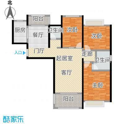 鑫苑世家116.08㎡111-116平米的A户型,三室两厅两卫户型3室2厅2卫