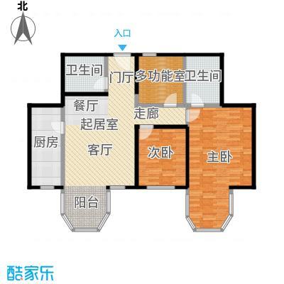 合生・滨江帝景112.00㎡二期B户型 三室两厅两卫户型3室2厅2卫
